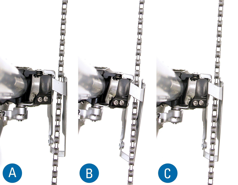 front derailleur rotational angle adjustment